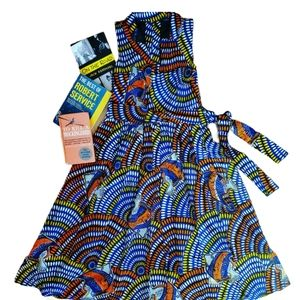 Vintage handmade novelty print dress